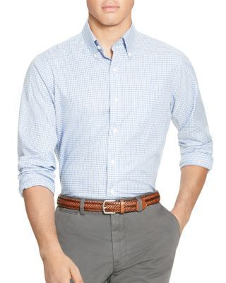 POLO RALPH LAUREN Checked Twill Classic Fit Button Down Shirt.   poloralphlauren  cloth  shirt af438be155dea