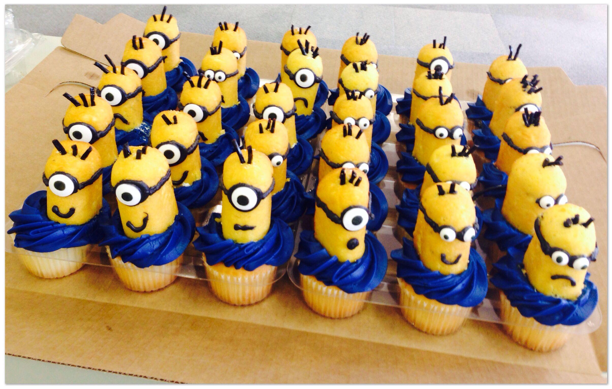 Minion Twinkie Cupcakes Nom Nom Minion Twinkie