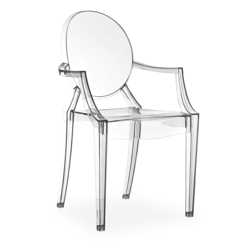 Schön Stuhl Aus Polycarbonat, Vollständig Transparent. Höhe Der Armlehnen: 66,5  Cm.
