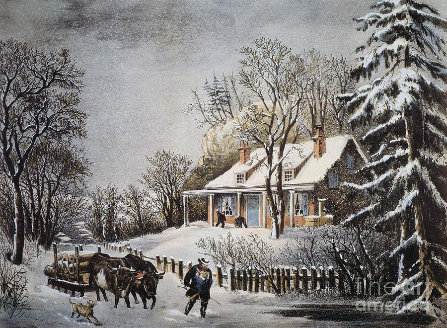 Currier Ives Winter Scene Currier And Ives Prints Winter Scenes Currier And Ives