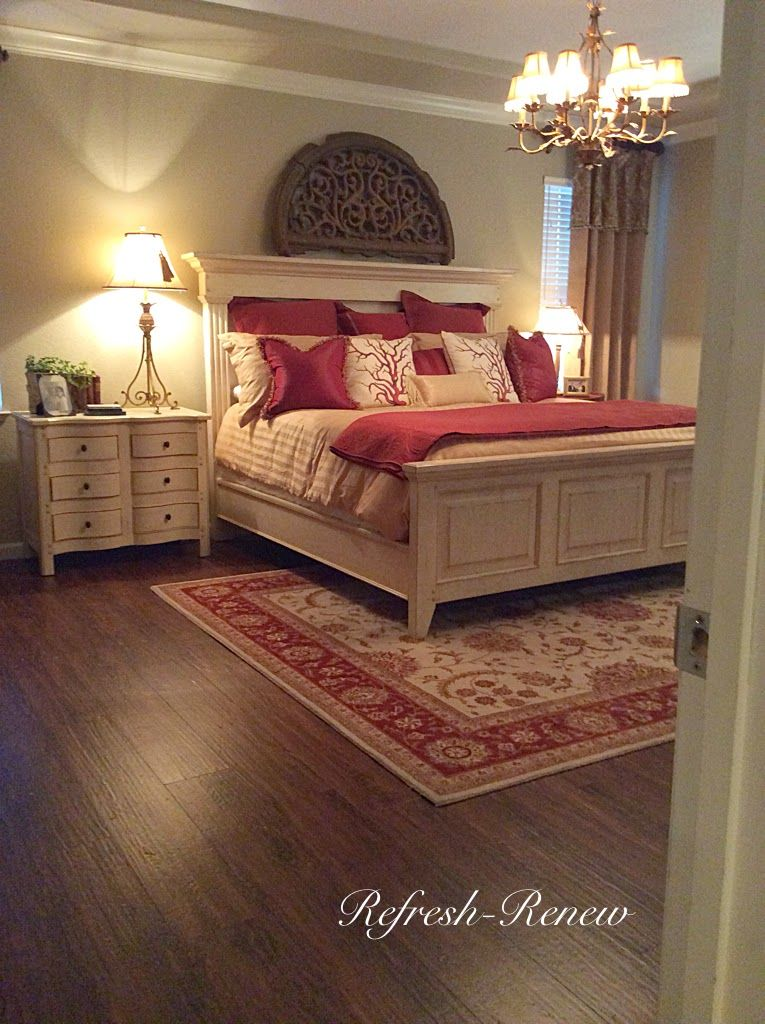 Master Bedroom Red refresh - renew: master bedroom reveal-(new floors!) | wow us