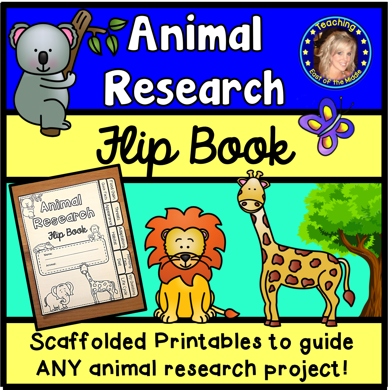 Animal Research Worksheet Template