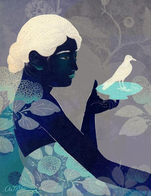 Catrin Welz-Stein: Bird on a plate Love the colors of this one!