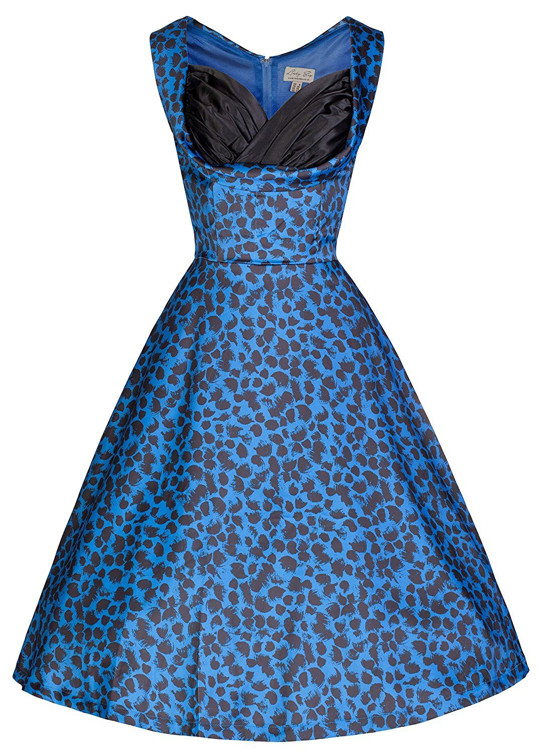 6169e673a827 Lindy Bop  Ophelia  Vintage 50 s Electric Blue Print Party Swing Dress    You can get more details here   Women s dresses