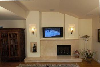 offset fireplace | 1403 | Pinterest | Fireplace design ...