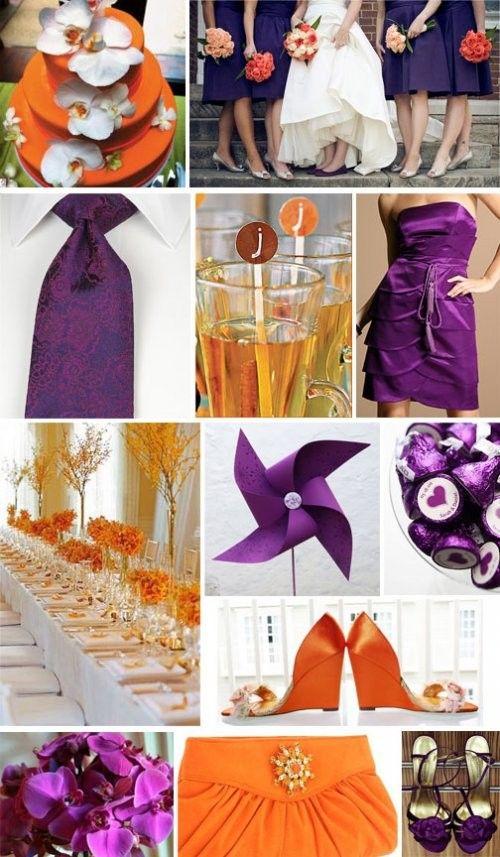 Wedding Color Palette: Orange | Purple | Pinterest