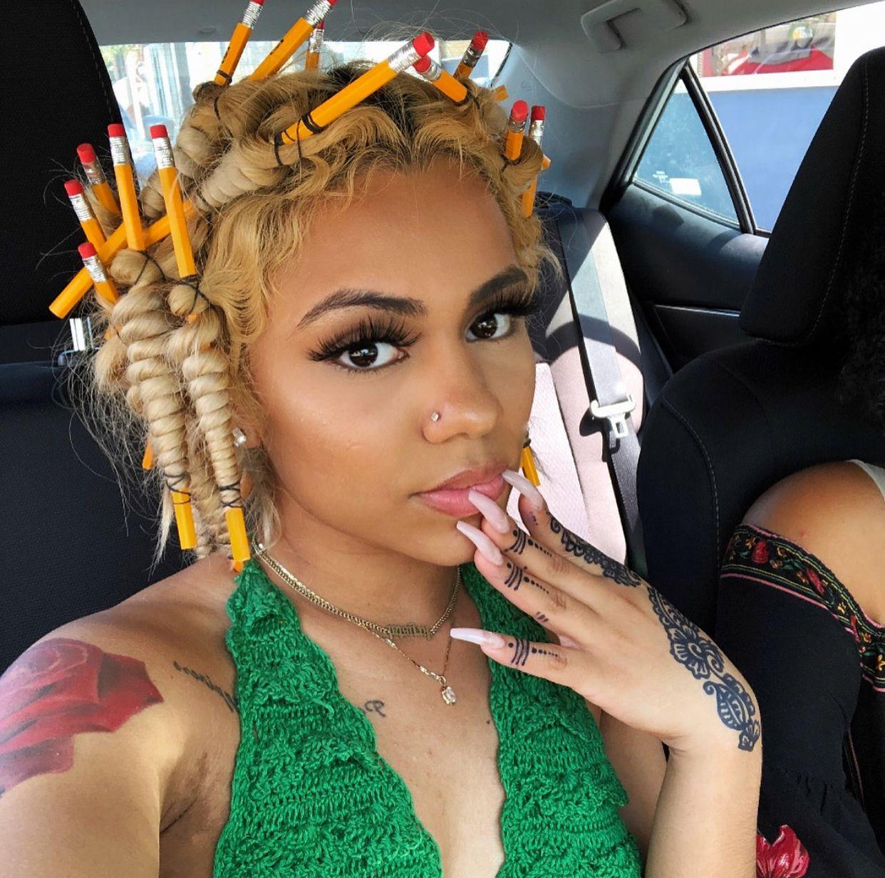 Hair Aesthetic Clips Light Brown