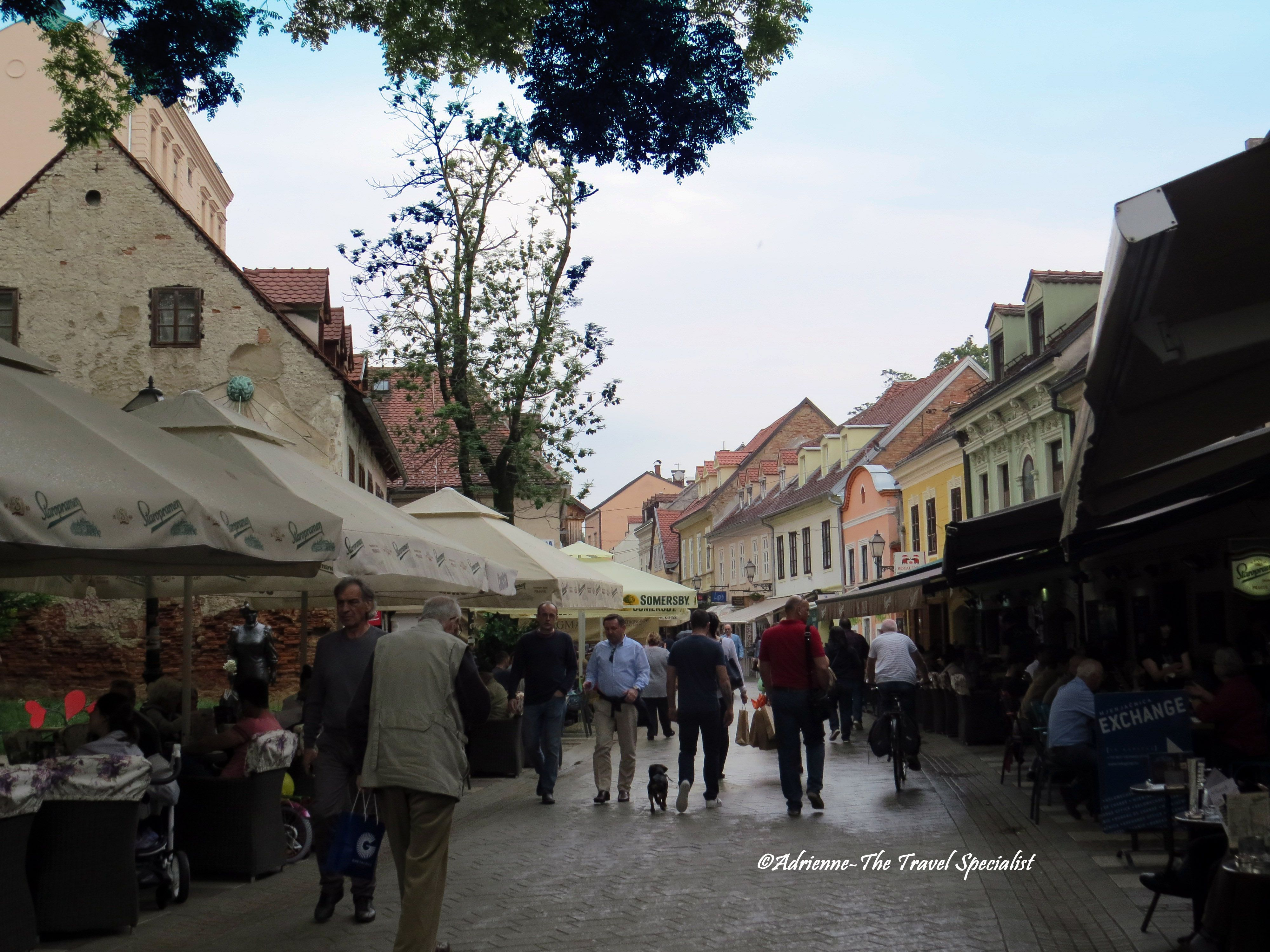 Tkalciceva Is A Pedestrian Street Filled With Restaurants Pubs And Shops In Zagreb The Street Once A River Divide Oldtown Pedestrian Street Visit Croatia