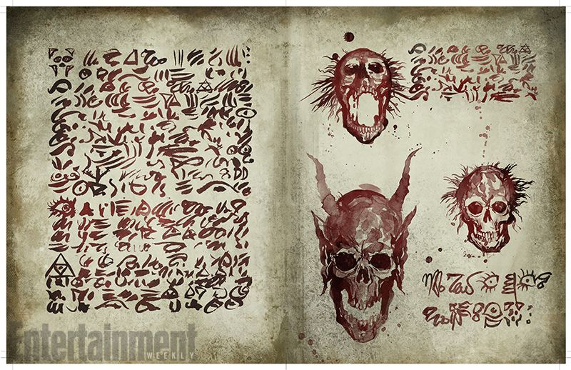 See Exclusive Pages From The Necronomicon In Ash Vs Evil Dead Evil Dead Book Ash Evil Dead Evil