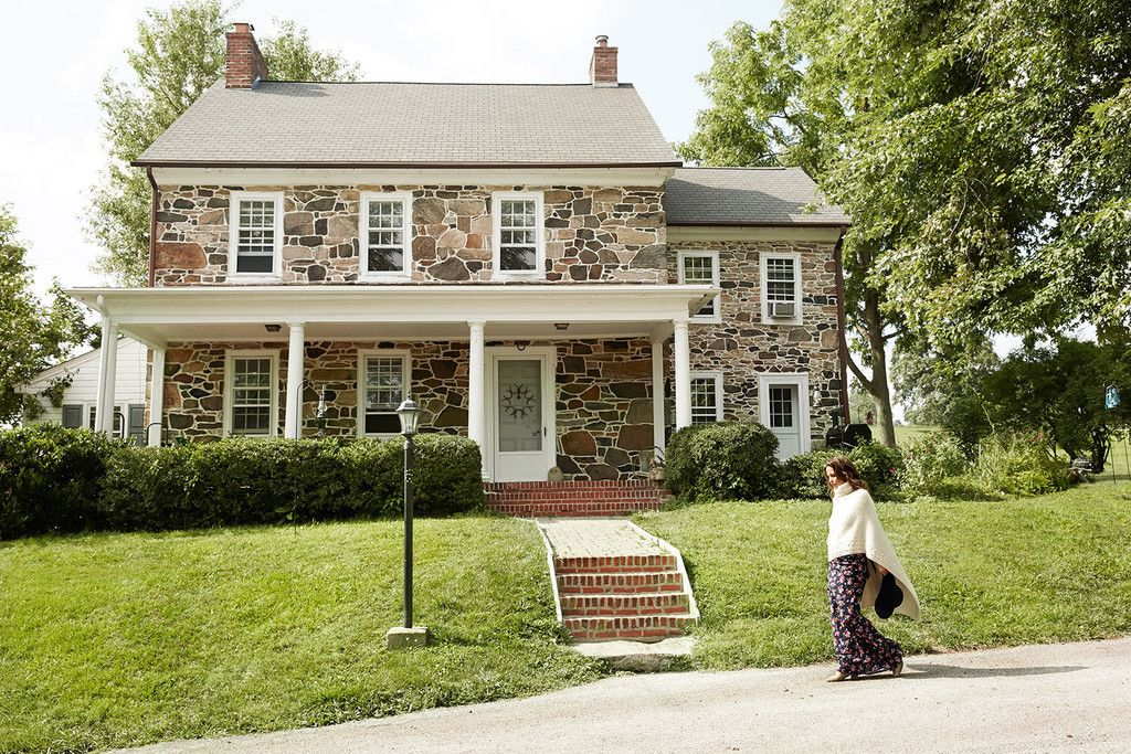 Click through for a full tour of Josie Maran's colonial-style stone home in rural Pennsylvania.   Lonny September 2014