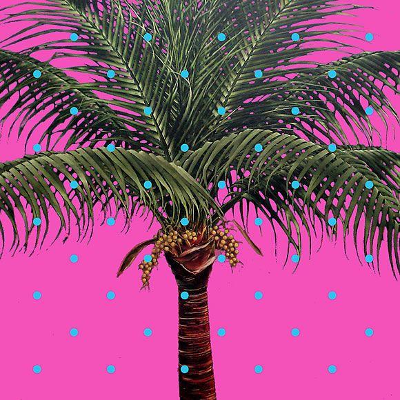 Robert Charles Dunahay:  Photorealist Palm Tree Paintings, oil on canvas
