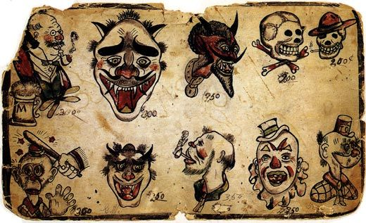 Old School Tattoo Flash Has Some Characteristic Elements That Have Made It Popular On And Off Throughout T Vintage Tattoo Tattoo Flash Art Flash Tattoo Designs