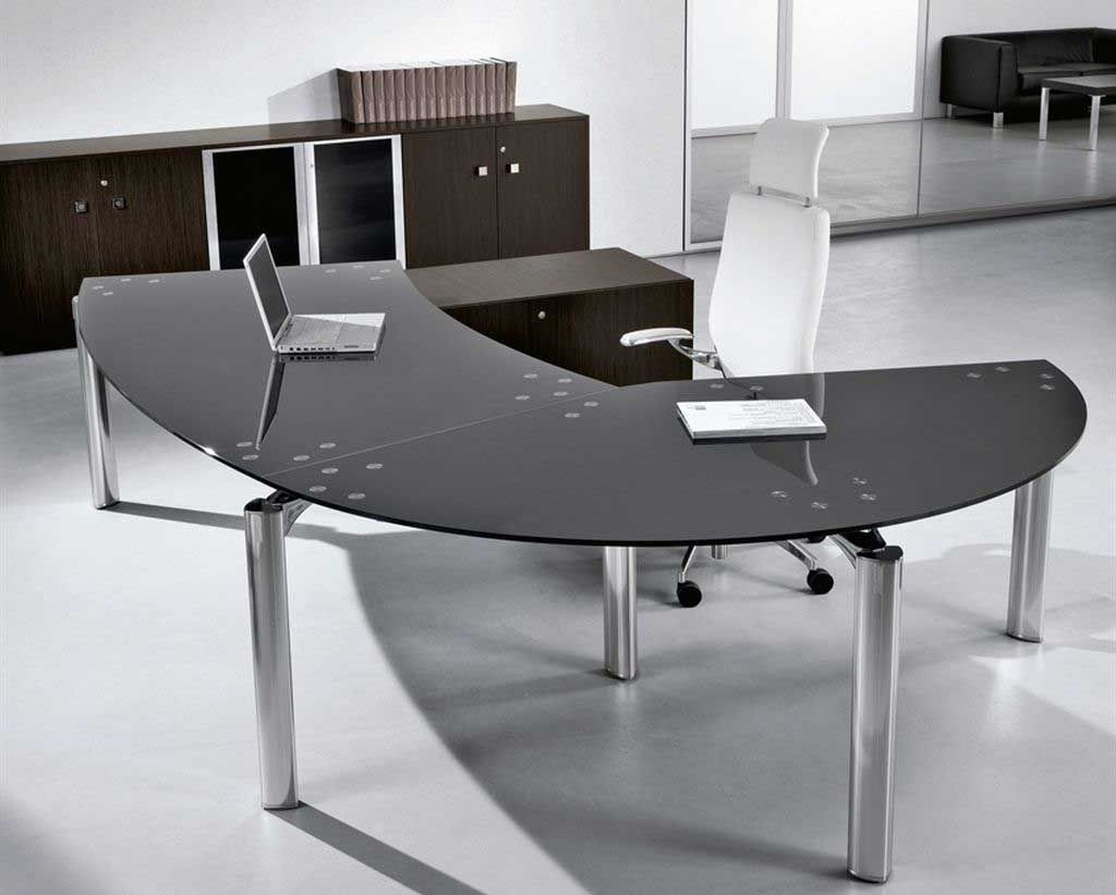 Glass Office Desk Design And Stylish Homefurniture Org Office