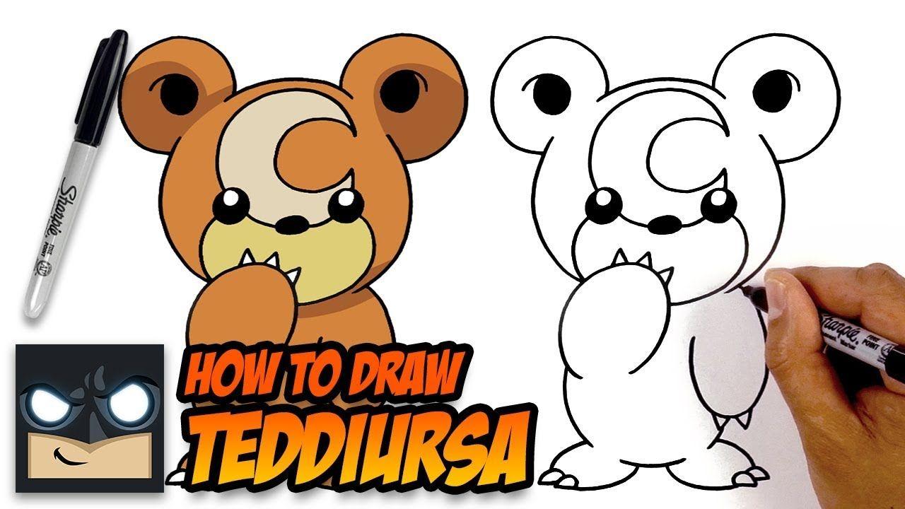 How to draw teddiursa pokemon stepbystep tutorial