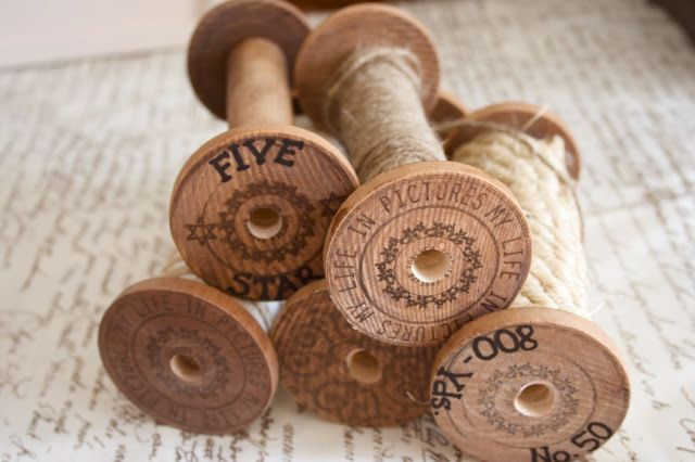 """How to Make DIY """"Vintage"""" Wooden Spools - Home Stories A to Z"""