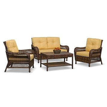Cromwell Outdoor Furniture 4 Pc Patio Living Room Value City Furniture 419 99 Outdoor Furniture Furniture American Signature Furniture