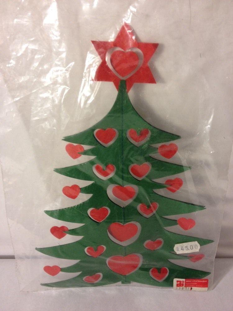 Vintage Anni & Bent Knudsen Danish Christmas Tree Paper Cut Ornament Denmark - Vintage Anni & Bent Knudsen Danish Christmas Tree Paper Cut Ornament