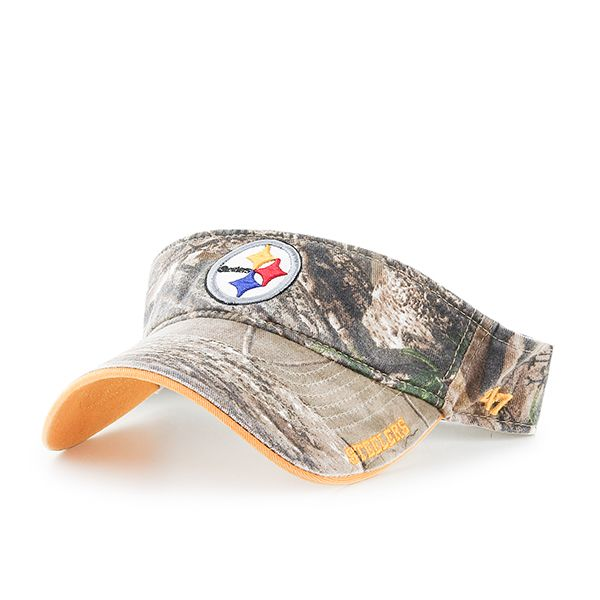 e7da2a54fe683f Pittsburgh Steelers Realtree Ice Visor Realtree 47 Brand Adjustable Hat