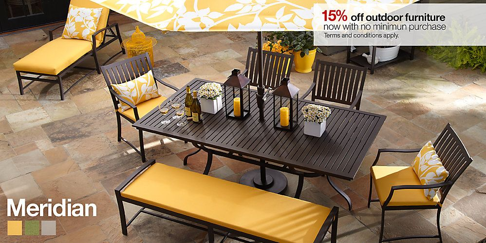 Crate and Barrel Meridian Furniture | Outdoor furniture ...