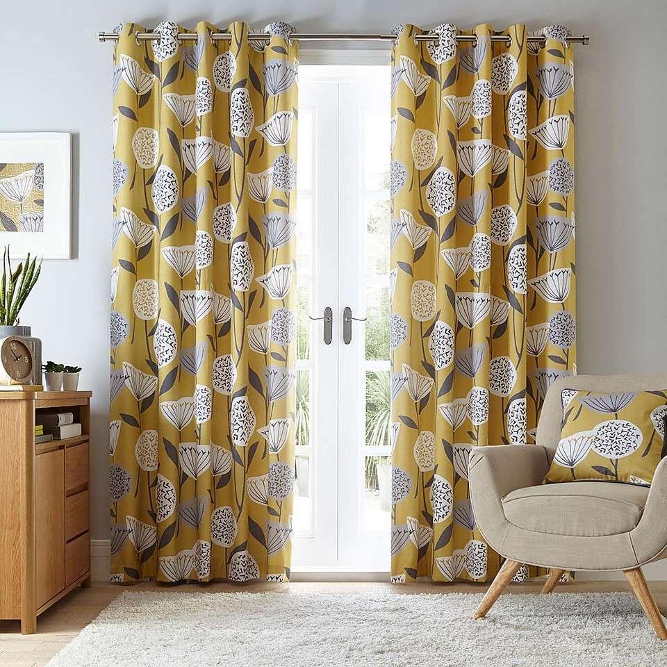 Best Elements Emmott Ochre Eyelet Curtains Fresh Living Room 400 x 300