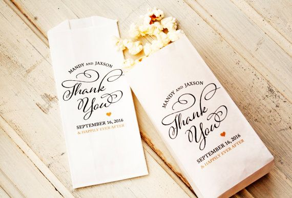 Wedding Favor Popcorn Bags Country Thank You Pop Custom Names And Date 20 In Each Pack More Save