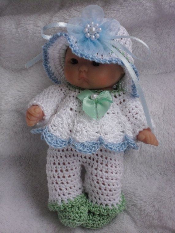 Crochet Pattern For Berenguer 5 Inch Baby Doll Dress With Trousers