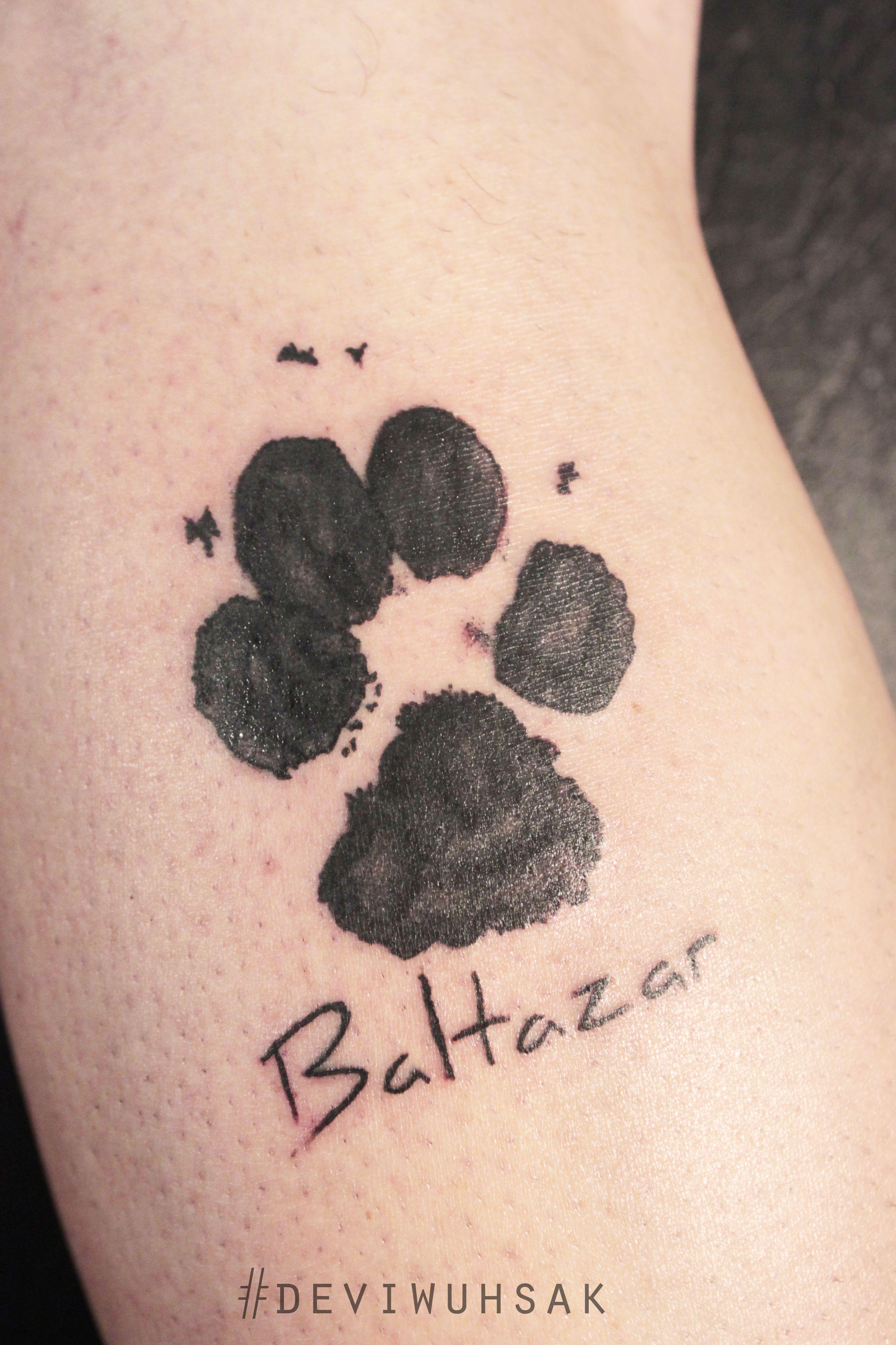 Deviwuhsak Tattoo Huella Perro Tatuaje Homenaje Ink