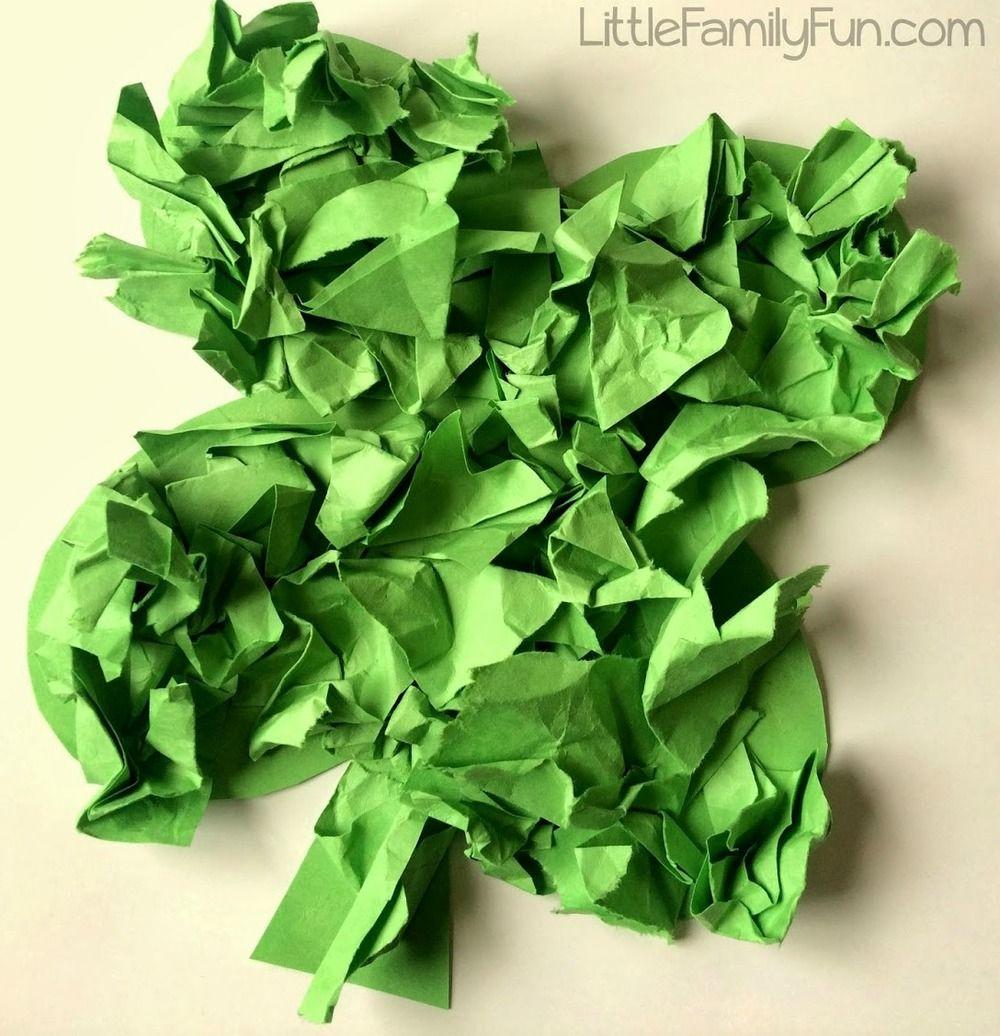 Four Leaf Clover Paper Crafts   AllFreeKidsCrafts.com