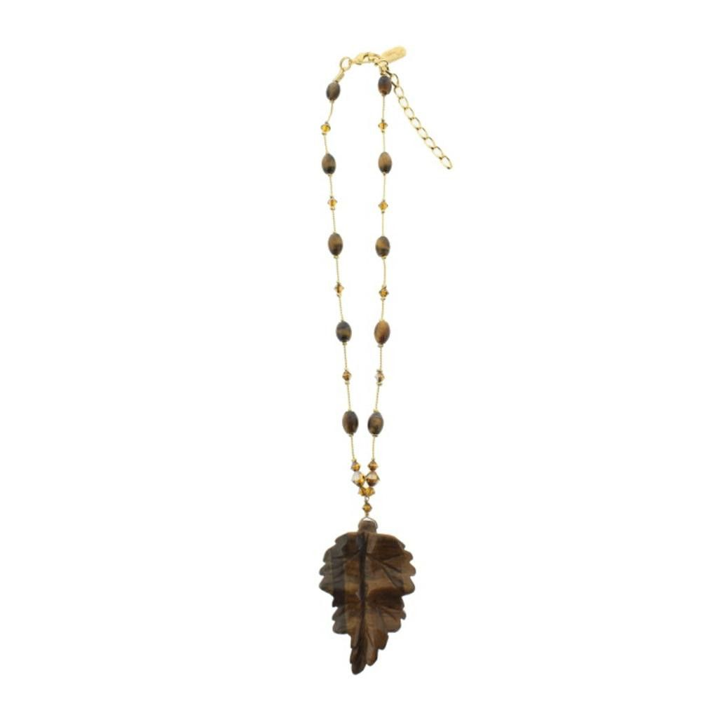 Dabby Reid Womens Hand Crafted Leaf Pendant Necklace