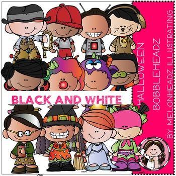 Melonheadz: Halloween clip art - Bobbleheadz - BLACK AND ...