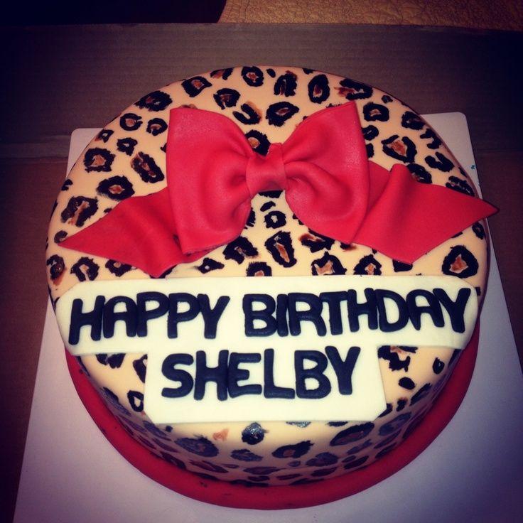 Cheetah birthday cake makaylas 8th birthday