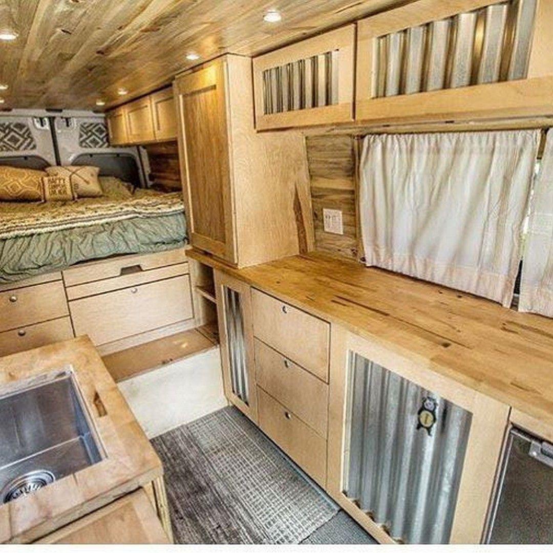 59 Sprinter Van Conversion Interior Design https://www.vanchitecture.com/2017/12/20/59-sprinter-van-conversion-interior-design/