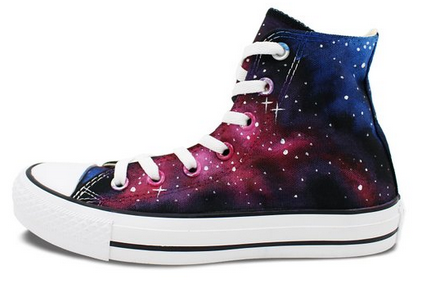Washable Galaxy Hand Painted Converse All Star Shoes Unique Gift ... 29a33b089