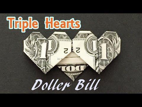 Super Easy Dollar Bill Heart | Easy money origami, Money origami ... | 360x480