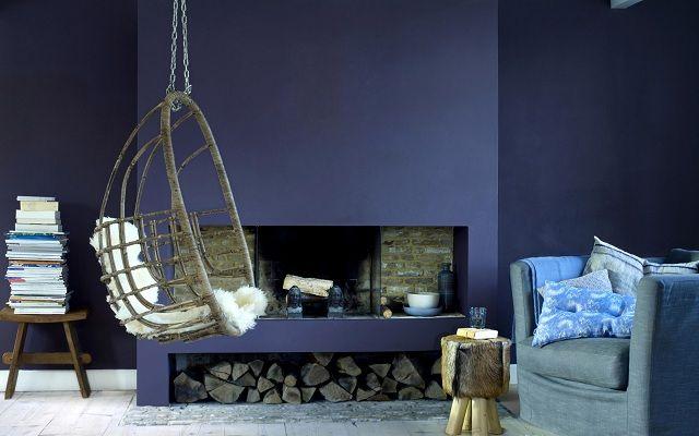 Wandgestaltung mit lila Farbe: 25 moderne Interieur-Bilder #bilder ...