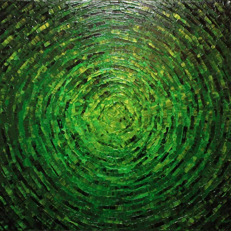 Shine Green Color Painting Eclat De Couleurs Peinture Art Sur Toile