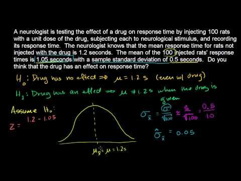 Hypothesis testing and p-values | Hypothesis testing with one ...