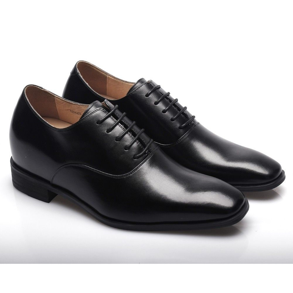 CHAMARIPA Elevator Shoes Mens Smooth Leather Business Dress Height Increasing Shoes   2 76 inches Taller K6532   7MYWQI34Y
