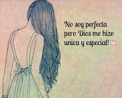 No soy perfecta..