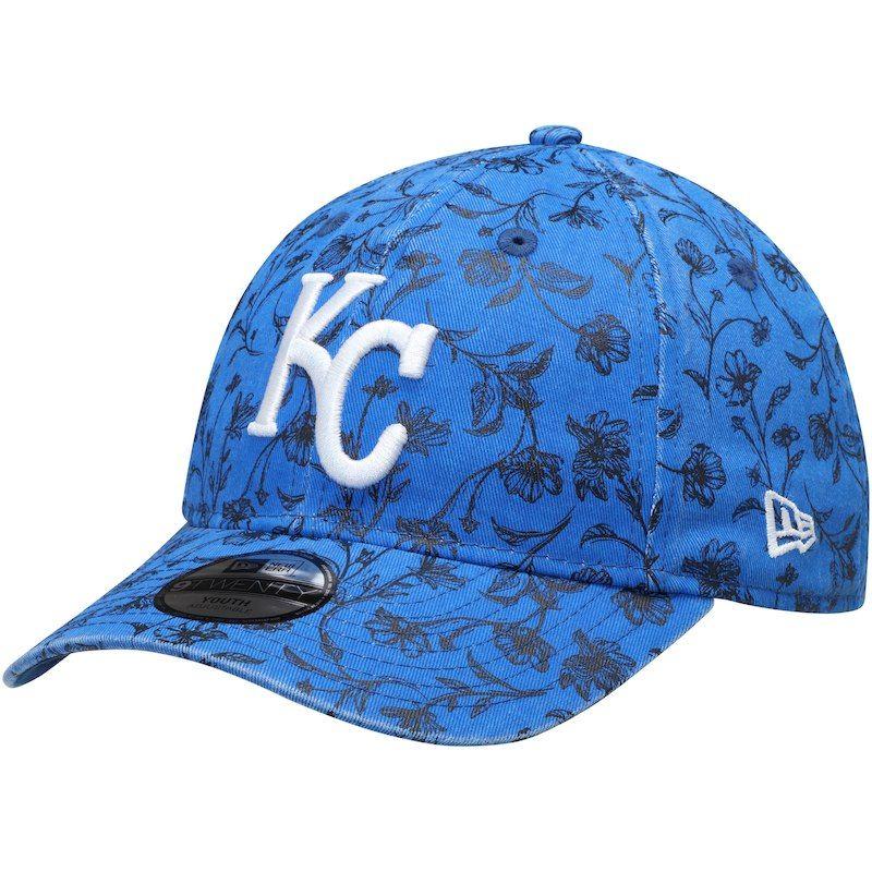 competitive price 50abb 455a9 Kansas City Royals New Era Girls Youth Floral Peek 9TWENTY Adjustable Hat –  Royal