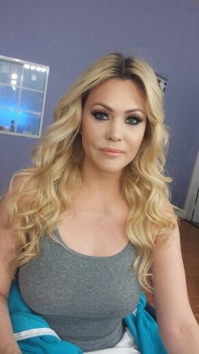 Hair and makeup on Shanna Moakler by myself and Austin ryde ...