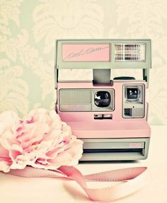 Superior Vintage Pink Polaroid Camera ~ So Pretty X Would Love To Have In This Color!