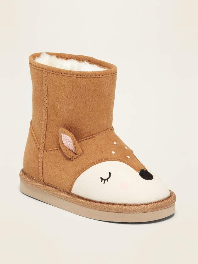 best website uk store wholesale dealer Faux-Suede Deer Critter Adoraboots for Toddler Girls | Toddler ...