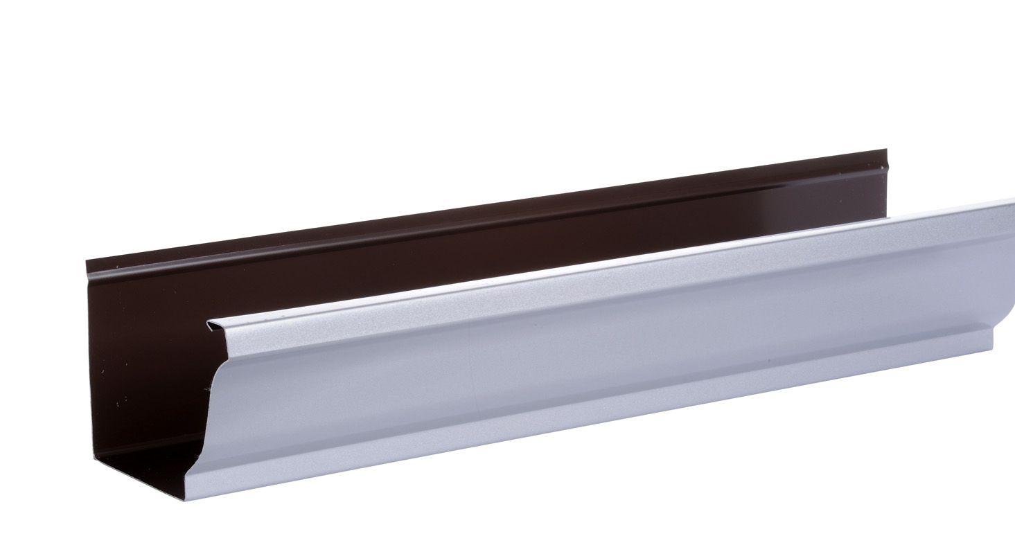 Gouttiere Aluminium Gris Metal Www Brico Toiture Com Type De Maison Metal Gris
