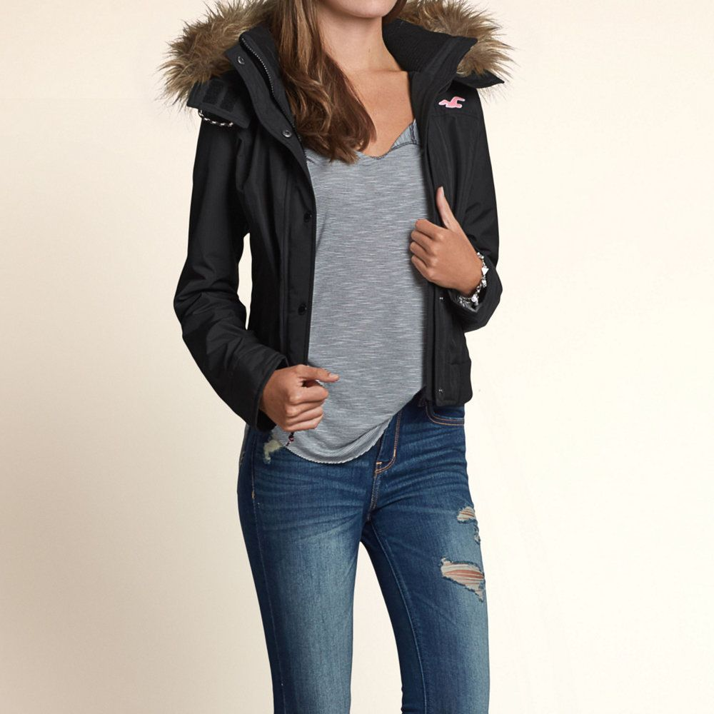 Girls The Hollister All-Weather Bomber Jacket | Girls ...