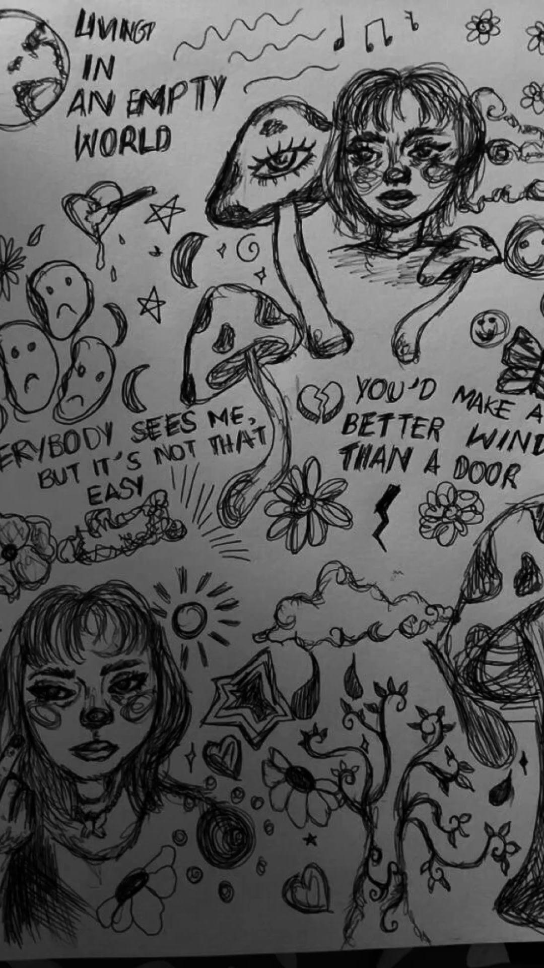 grunge drawings