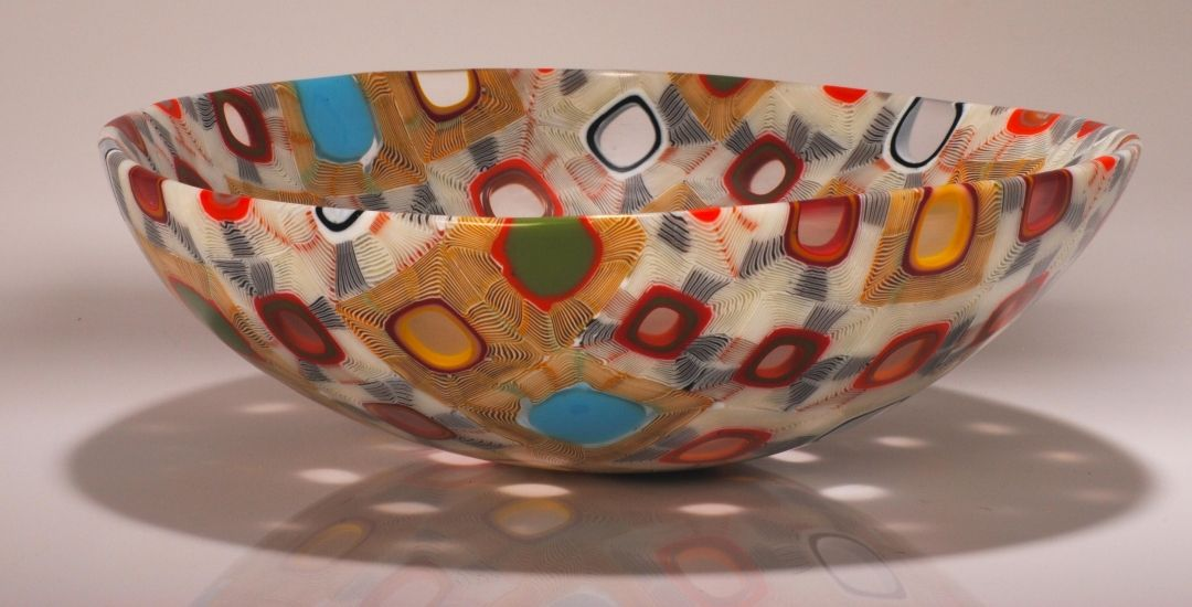 Tansey Contemporary Glass Art Fused Glass Bowl Mosaic Glass