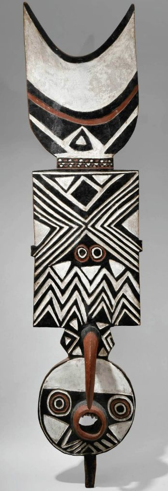 """Africa   Mask """"Nwantantay"""" from the Bwa people of Burkina Faso   Wood with pigment   Early 20th century"""