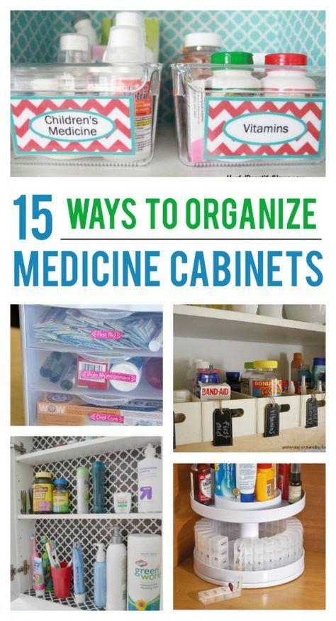 15 Ways to Organize Your Medicine Cabinet #organizemedicinecabinets