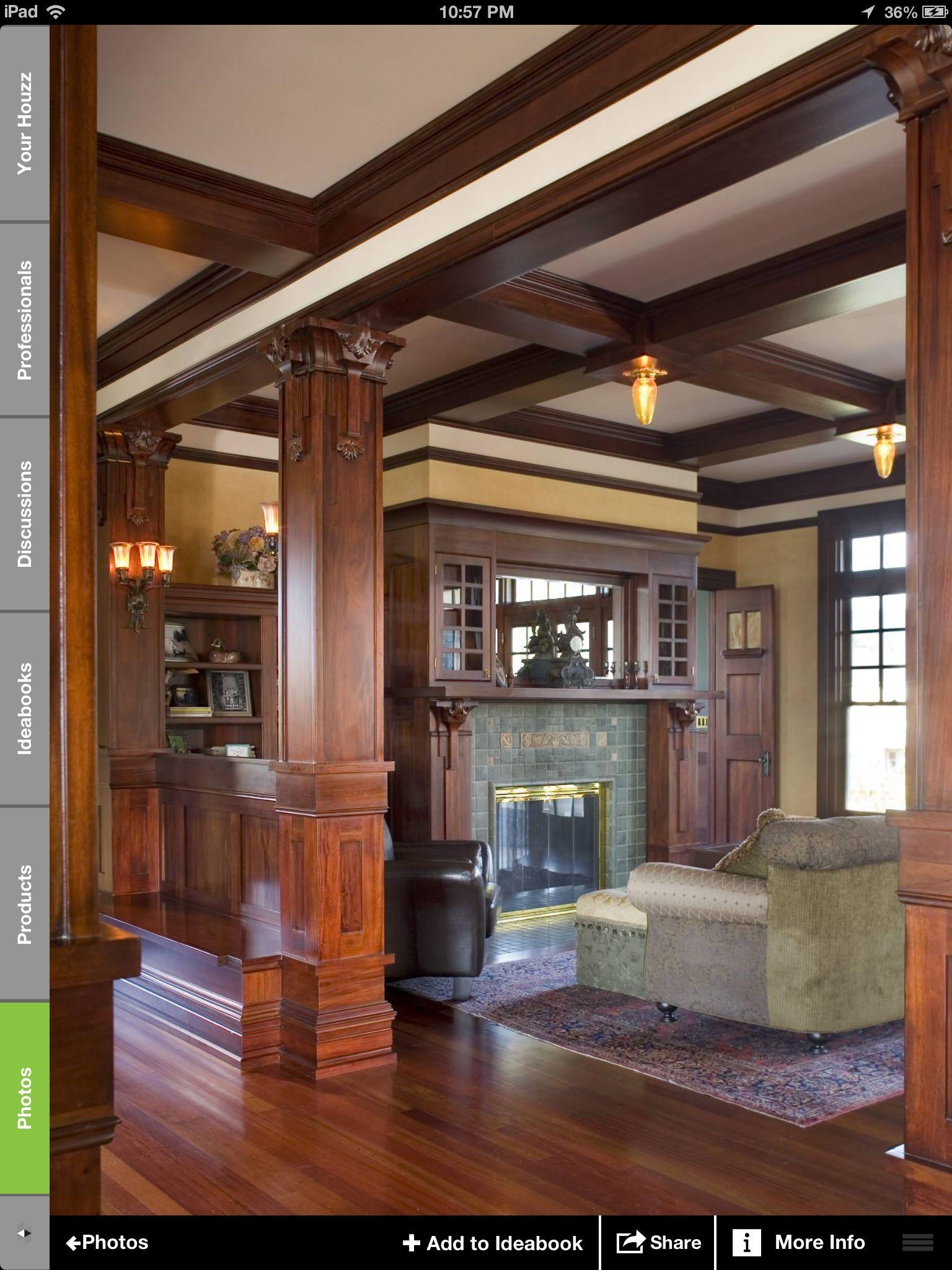 Love The Wood Craftsman Interior Design Craftsman House Craftsman Interior